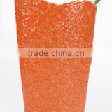 Decoration flower tall ceramic Vase, Orange color Ceramic Flower Vase Estern Style, Porcelain Vase Home Decoration