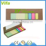 eco sticky notes with plastic ruler