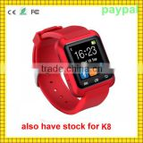 paypal accept waterproof 3G WIFI WLAN K8 android gps smart watch                                                                         Quality Choice