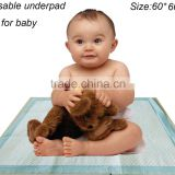 60*60cm baby diaper changing mat disposable pads