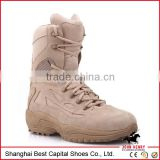 Military Desert Boots/Tan Army Tactical Boots with Zipper Side