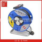China factory supply LC Waterproof industrial 3 gang 16A Cable Reel Socket with Overload protection