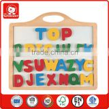 2015 popular children learning toys wooden colordul magnetic alphabet letters for educational wood craft for kids EN71 and OEM