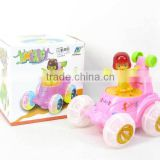 High Quality Pink Battery Operated Bump and Go Dancing Car With Music and Light
