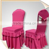 Anti-dirt spandex banquet chair cover with bow for Bilayer Stretch wedding party chair cover