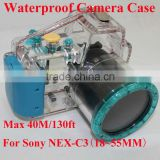 Plastic Camera Case Waterproof Underwater Case Camera Housing Diving Case For Sony NEX-C3(18~55MM)
