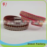 Best Wholesale Websites Leather Women Wrap Printed Drawing Bangle
