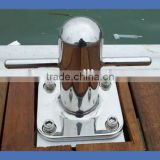 Marina cable corner mooring cleat
