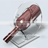 5mm thickness of clear Acrylic wine bottle holder