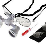 2.5x Dental Surgical Binocular Loupes LED Head Light US White color A
