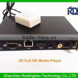 RDB 12 Volt Metal Housing Auto Play 3D Advertising Media Player with one key copy function Factory Price DS009-26