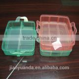 plastic storage boxes /clear plastic storage box with dividers /plastic storage box with handle