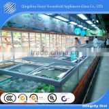 retrofit PVC frame frost free glass front for refrigerator with matching price tag molding