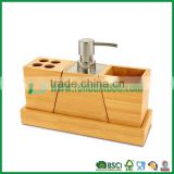 FB7-2012 bamboo bathroom accessory, toothbrush box, toothpaste holder, body wash dispenser