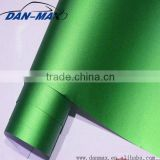 New green matte chrome pearl metallic self-adhesive pvc decoration film for wall panel / car wrapping
