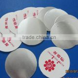 PET induction seal wad for medicine packaging
