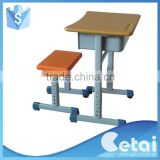 Wood cheap school furniture classroom bench school desk and chair