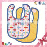 2015 Hot Sale Easy To Clean EVA Peva Small Baby Bib With Print