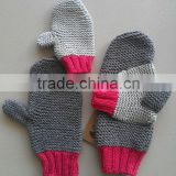 Adult and Kids Super Soft and Warm Knitting Handmade 100%Yak-Yarn Winter Glove Mittens