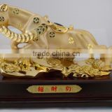 lucky leopard resin animal office and home decoration