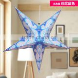 Wedding decoration home decoration handmade Shining star lamp paper star lantern glitter star lamp led decoration light