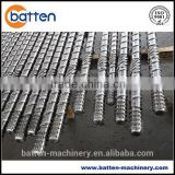 PP/HDPE corrugated pipe plastic extrusion line single screw barrel