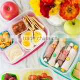 China Lunch Container with Dividers 3 Compartment Clear Plastic Storage Box