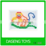 top sell educational toys plastic mosaic peg board educational toys