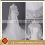 WV1 Bridal Veil Tulle Fabric 3Metres Lace Edged Wedding Veils Wedding Accessories