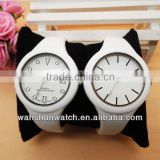 Ladies white plastic bangle watches modern charming styles wristwatch