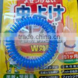 Export to Japan 100% Kid Safe No Deet Spiral Telephone Wires Mosquito Repellent Bracelets
