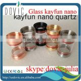 beautiful colorful kayfun nano quartz with low price in stock,black,copper,brass,ss short/long kayfun quartz nano