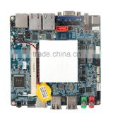Intel J1900 small nano itx fanless mini pc thin client motherboard with 2 lan ports VGA HD display