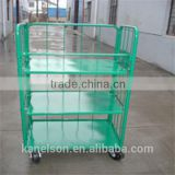 Collapsible logistic steel 4 sides folding trolley cargo