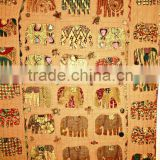 2014 Spring Collection!!! Multi Patchwork colorful Elephant design Indian handmade Bedspreads