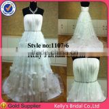 Lovely scoop neckline handmade flower girl dress patterns for wedding dress