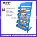 Portable &Outdoor Muliti layers Metal Magazine Racks L /Magazine display racks HSX-105