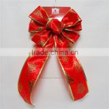 2016 Elegant 2.25 inches Wired Edge Ribbon Flower For Christmas,Wired Edge Ribbon Decoration Flower for Different Holidays.