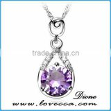 Valentines' gift jewelry women fashion wholesale heart crystal sterling silver pendant for sale