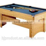 Factory promotion high quality Classic stylish 7' mdf+slate billiard table for sale now, auto ball-return system