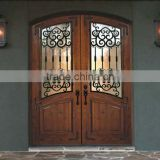 entry arch top double wrought iron front door in foshan factory