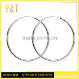 Cheap wholesale 925 sterling silver big earrings hoops jewelry fashion jewelry making earrings hoop (AE-034)