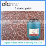 Water-resistant colorful building exterior wall texture paint