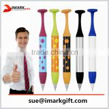 special shape novelty plastic ball pen for promotion/ logo printed plastic ballpoint pen