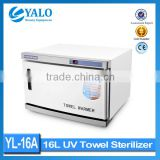 YL-16A uv sterilizer for beauty salon equipment /16L heated towel cabinet