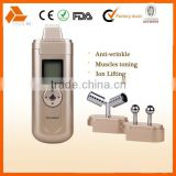 Personal Home-use Facial Toning Device for face lifting and skin tightening galvanic current