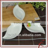 ceramic appetizer serving dishes set with oak wooden tray