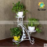 PN living room& Patio 3-Tier Metal Plant Rack Garden Shelves Storage Flower Shelf Stand flower pot shelf