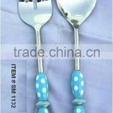 Salad Server With Ceramic Handle , Beaded Handle