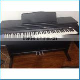 Electronic piano USB function, Black color hammer action keyboard digital piano, 88 key digital piano MP3 function